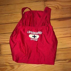 Lifeguard one piece swimsuit